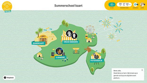 landkaart event Summerschool 2021